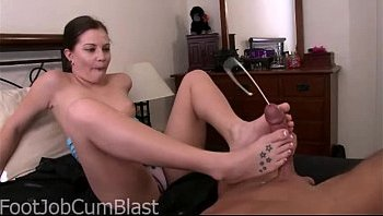 foot job cumshot