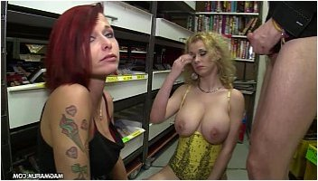 tits flashed in store