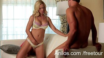 sexy blond wife opens