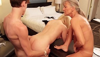 blonde old milf